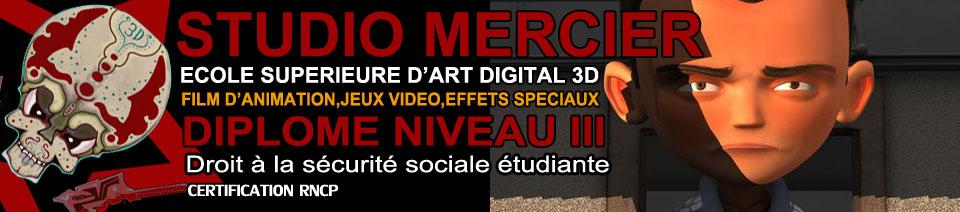 Le site Studio Mercier Ecole 3D
