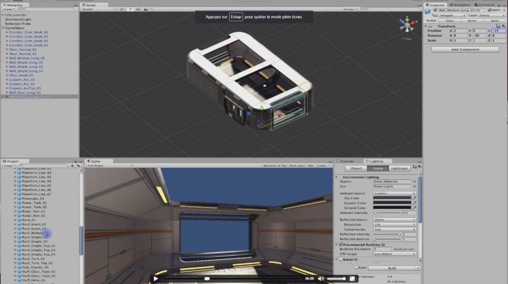 Conception d'un niveau de jeu vidéo sur Unity